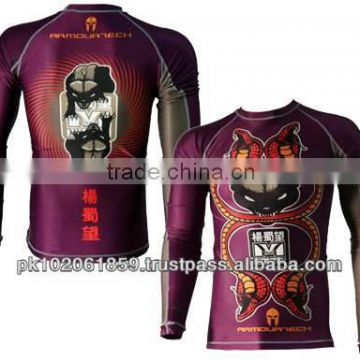 d5560f64 Customized Subblimation pritning Compression tight shirts/ Higest Quality  and Cheap prices Sublimation printing Rash Guards of Martial Arts from  China ...