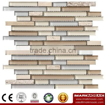 IMARK Crystal Glass Mosaic Tiles Mix Marble Mosaic Tiles for Wall Decoration Code IXGM8-104