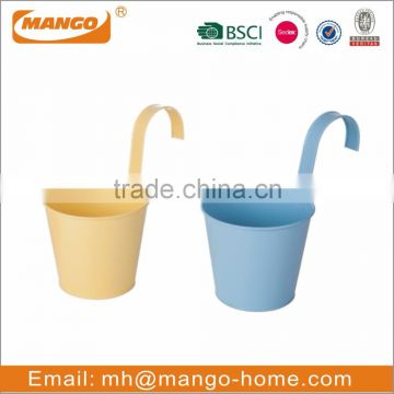 Colorful Powder Coating Mini Metal Flower Pot