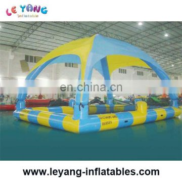 inflatable adult swimming pool with roof/tent/cover/shade for sell from china
