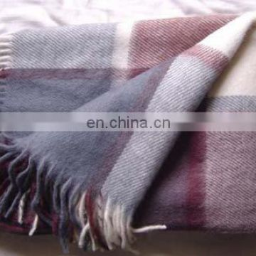 Woolen Throw/Plaid/Blanket