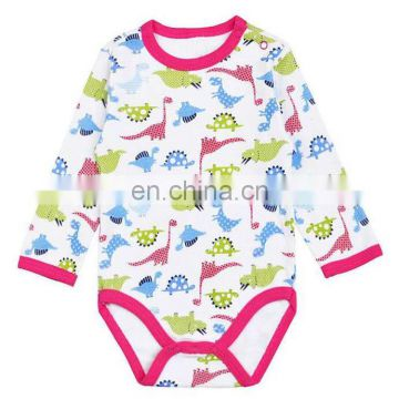 2017 New Born Baby Clothing Bamboo Baby Clothes Plain All Printed Baby Bamboo Onesie Clothes