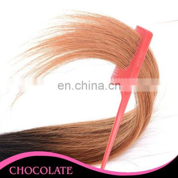 hot sell human hair extension ombre color T1B/Rose gol remy weave 10-26 inch avaliable in stock
