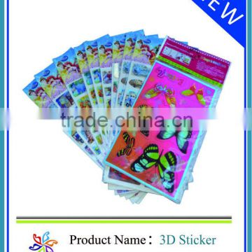 2013 3d raised butterfly embellishment stickers