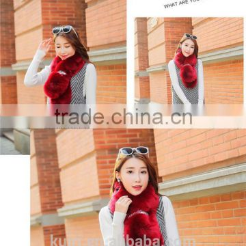Brand design Ladies Women Warm Faux Fur fox Scarf Snood Scarf