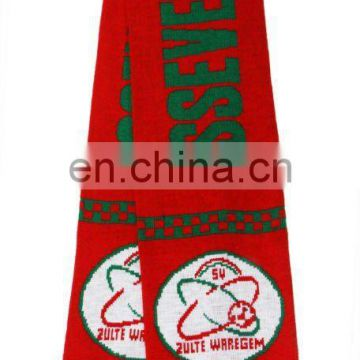 Knitted Jacquard Soccer Scarf