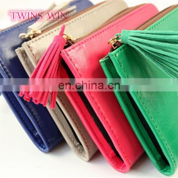 Guatemala 2018 best selling High quality Most favorable mixed colors zipper design pu leather coin purse