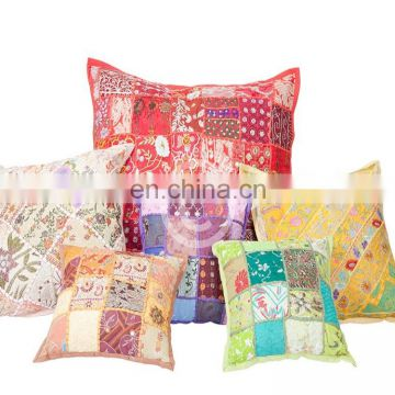 100% cotton indian handmade fancy cushion cover custom printed cushion covers
