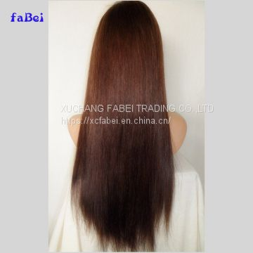 High quality cheap price indian loose wave natural virgin human hair full lace wigs
