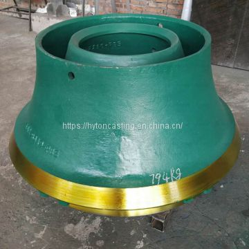 wear parts bowl liner mantle of Mn18Cr2 suit gp11f  metso nordberg cone crusher