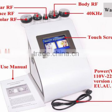 Aesthetic appearance 40k cavitation Vacuum shape body rf beauty machine for slimming body