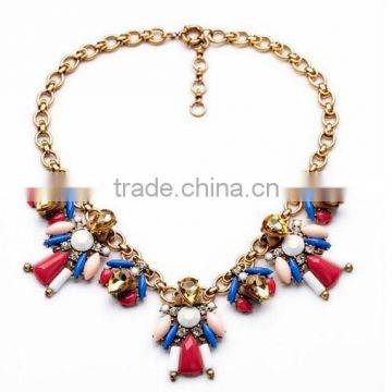 Big fashion cheap costume jewelry perfume body chains femininos choker necklace crystal pendant necklaces bijoux red accessories