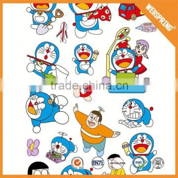 Funny kids cartoon stickers key chain puffy 3d sticker