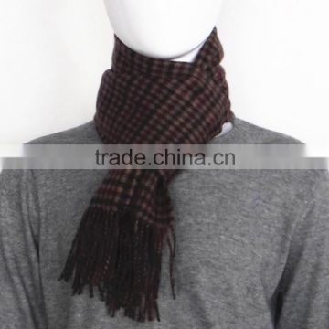 Double Face Checked and Solid color Wool Scarf