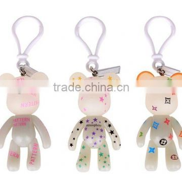 factory price custom soft pvc keychains in China Promotional New Style soft pvc keychain oem cute cartoon bear custom keychain
