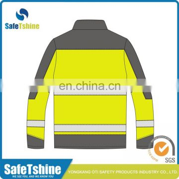 High visibility winter security waterproof safety 3m reflective jacket