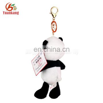 New Design Your Own Wholesale Factory Mini Plush Bear Animal Keychain Metal Hook