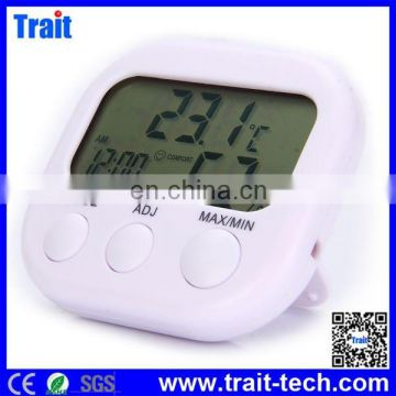 Cheap but High Quality TA638 Digital LCD Temperature Hygrometer Weather Alarm Clock Meter Thermometer