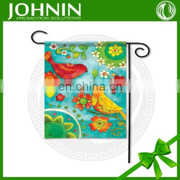Iron stand high quality vivid color durable decorative garden flag
