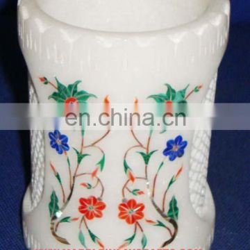 White Marble Pen Holder Decorative Gift Items