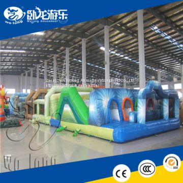 Outdoor the beast inflatable obstacle course, large giant adult inflatable obstacle course challenge game for sale