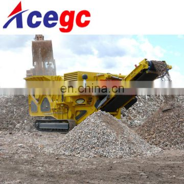 Diesel mobile jaw crusher station / rock crushing machine for sale
