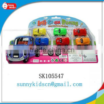 Cute plastic car toy mini car pull back toy promotion toy