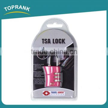Toprank Colorful Promotion Approved Plastic 3 Digital Luggage Combination Lock Travel Suitcase Tsa Luggage Lock