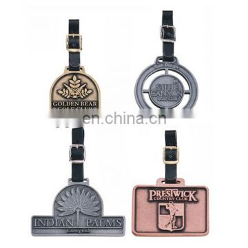 Personalized Engraving Die Cast Bag Tags For Golf Sport