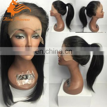 ponytail lace front wig with baby hair straight lace front human hair wig aliexpress hair