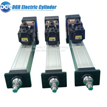 Custom Precision Servo Electric Cylinder 400mm Stroke 1 Ton Thrust 80mm / s Lift Electric Linear Actuator