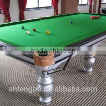 Factory price MDF snooker pool table with billiard lamp for adults