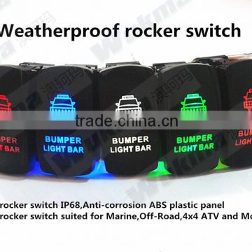 Sealed rocker switch of bumper light bar suited for Marine, Off -Road, 4x4 ATV and Motorcycle
