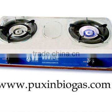 Chinese Portable Table Biogas Stove with Double Burner of