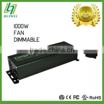 Hydroponic Digital HID Ballast 1000W Dimmable With Cooling Fan Original Manufacturer