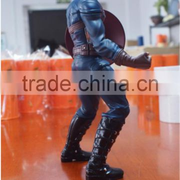 high quality hot sale resin anime character captain america statue for collection