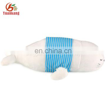 ICTI factory 40cm cylinder-shaped stuffed sea animal plush sea dog toy