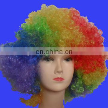 2017 cheapest factory direct sell Rainbow Clown Wig Afro Clown Wig synthetic wig