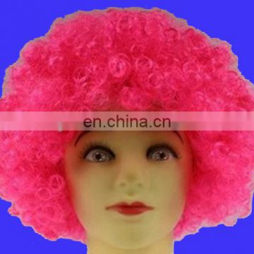 Factory direct sell customer synthetic afro wig for sport events