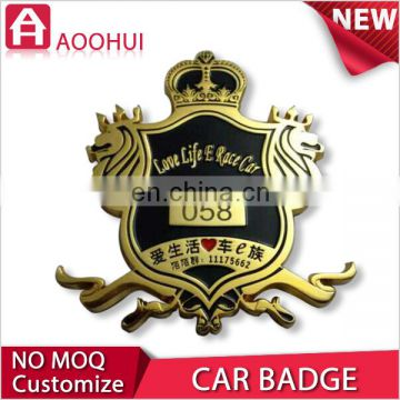 Hot sell new design gold plating car grille emblem badges