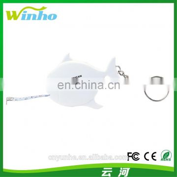 Winho gift use cute fish shape Measuring tape Keyring