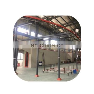 Advanced powder coating production line for aluminum doors and windows