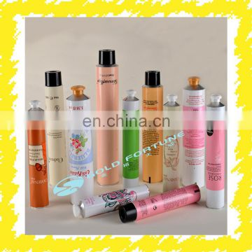 Small mini aluminum collapsible tubes cosmetic