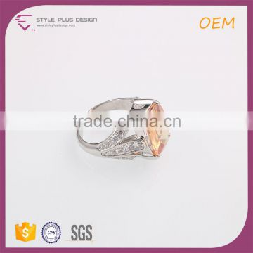 R63506K01 High Quality Styly Plus Ring Designs Orange Diamond Ring Jewelry