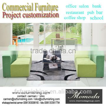 Mustard Green Modern Simple On Sale Hallway Lobby Fabric Sofa High Fashion  Project Furniture Office Living