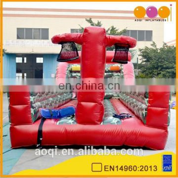 Factory price interactive inflatable bungee basketball toss game for adults