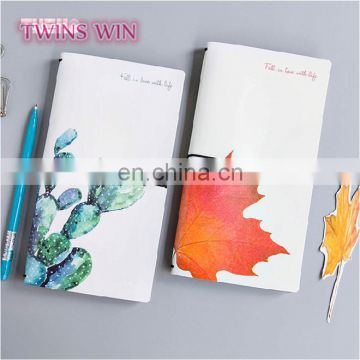 Pakistan 2018 new products cheap cute school stationery custom cactus design blank kraft paper notebooks writing pads
