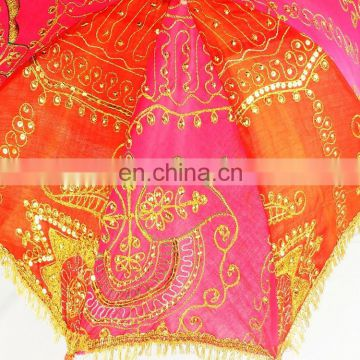 Vintage Rajasthani Handmade Umbrella In Many Different Ethnic Color & Designs