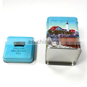 Recycle Square Children Holiday Gift Tin Boxes Packaging Elegant