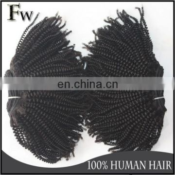 Afro twist braid malaysian top quality afro kinky hair weave raw unprocessed wholesale remy human hair extensions